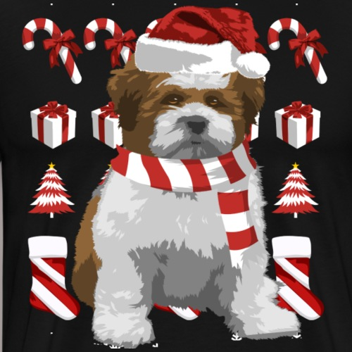 Lhasa Apso Weihnachten XMass - Männer Premium T-Shirt