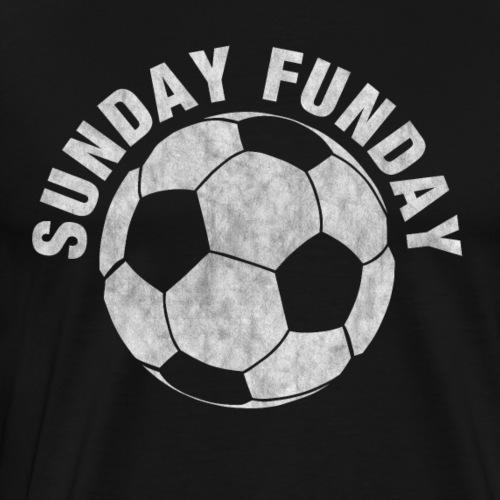 Sunday Funday - Fußball - Geschenkidee - Männer Premium T-Shirt