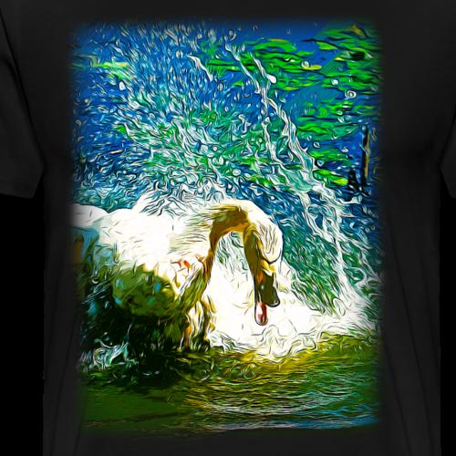 gxp schwan in aktion vektor kunst - Männer Premium T-Shirt