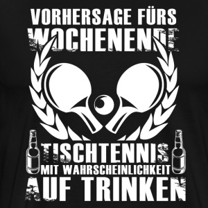 Weekend Forecast Bordtennis - Premium-T-shirt herr