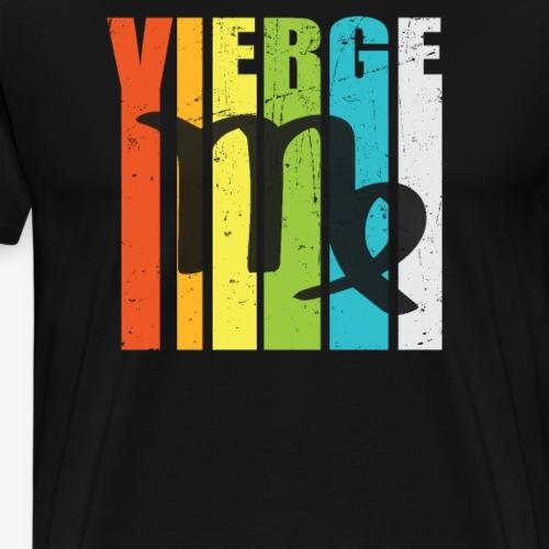 Symbole, signe du zodiaque VIERGE, août, septembre - T-shirt Premium Homme