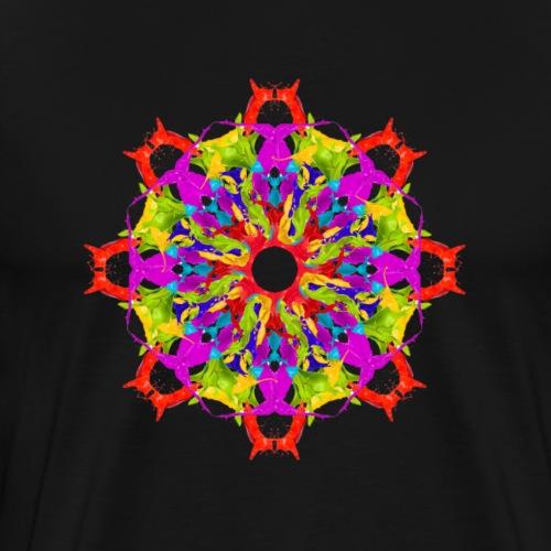 colour splash mandala - Men's Premium T-Shirt
