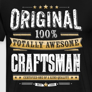 Original 100% Awesome Craftsman - Premium T-skjorte for menn