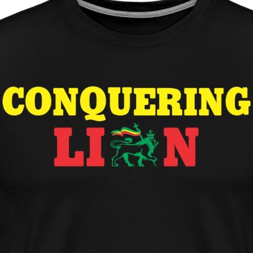 Conquering Lion - T-shirt Premium Homme