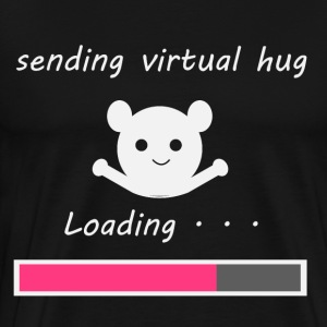 sending virtual hug - Men's Premium T-Shirt