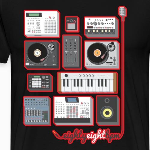 88 BPM Full Set (red/black) - Men's Premium T-Shirt