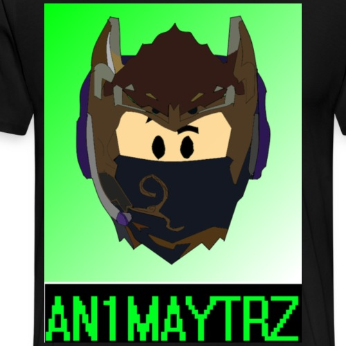 AN1MAYTRZ logo + title - Men's Premium T-Shirt