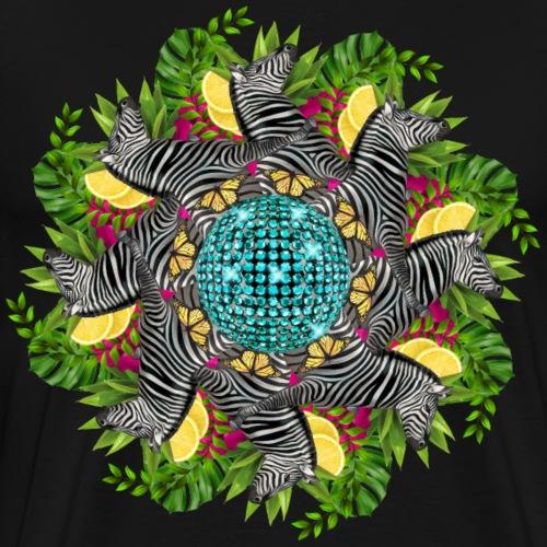 disco zebra mandala - Men's Premium T-Shirt