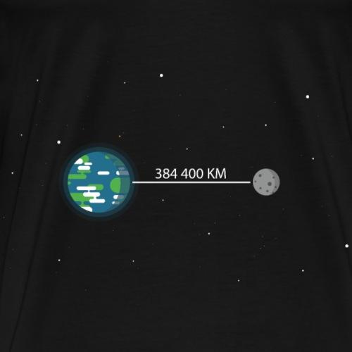 Earth & Moon - T-shirt Premium Homme