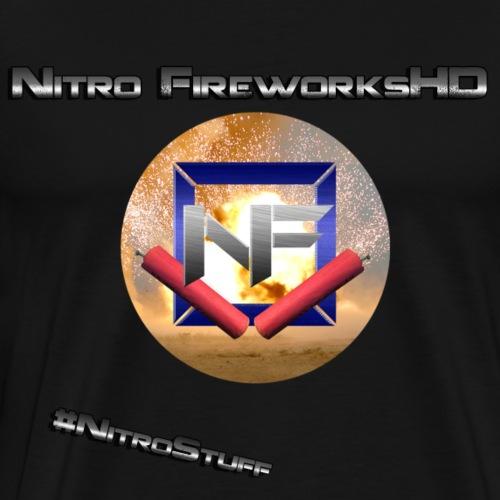 Nitro FireworksHD + Hashtag - Männer Premium T-Shirt