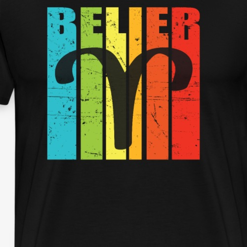 Symbole, signe du zodiaque BELIER, mars, avril - T-shirt Premium Homme