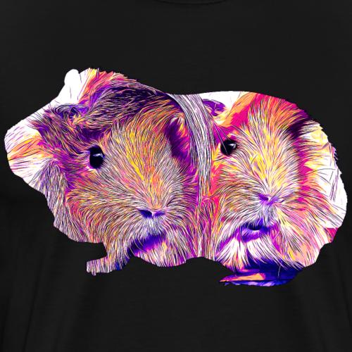 gxp meerschweinchen pärchen vektor kunst lila - Männer Premium T-Shirt