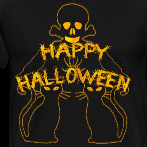 Happy Halloween Design - Männer Premium T-Shirt