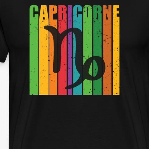 Symbole du zodiaque CAPRICORNE, décembre, janvier - T-shirt Premium Homme