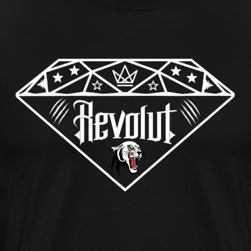 Revolut Logo in Weiss - Männer Premium T-Shirt