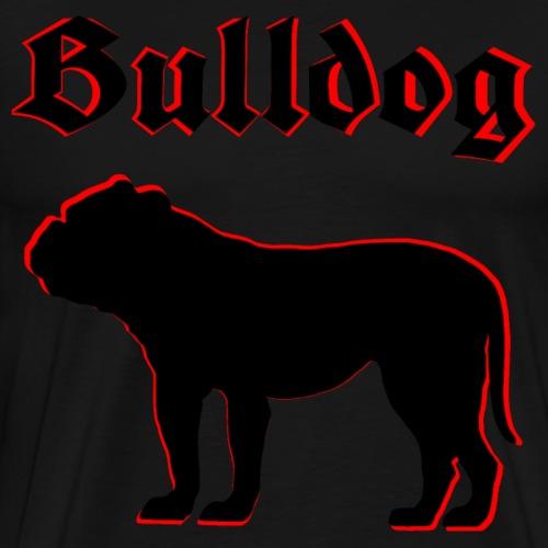 Bulldog,Bulldoggen,Bulldogge,Hundekopf,Hundeliebe - Männer Premium T-Shirt