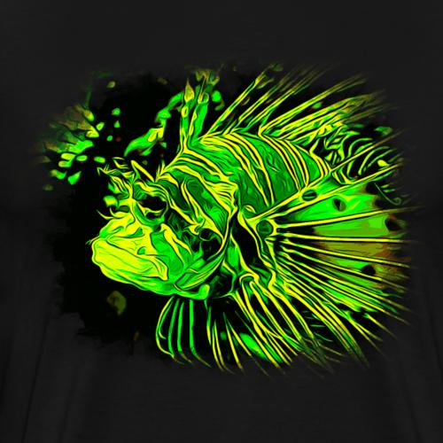 gxp feuerfisch vektor kunst grün - Männer Premium T-Shirt