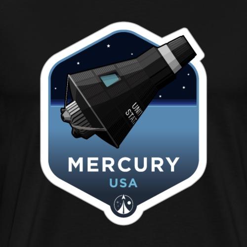 Space Race Series: MERCURY (Large print) - Men's Premium T-Shirt