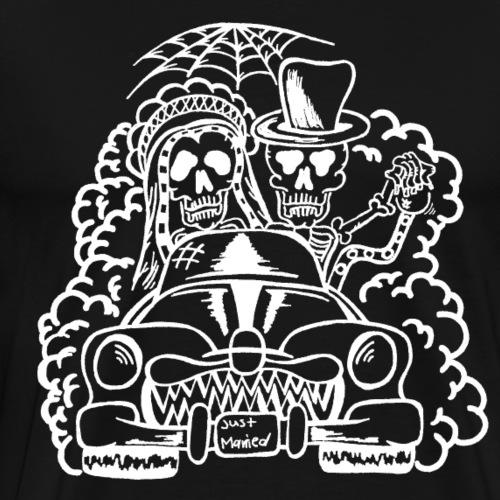 Hochzeitsmonster - Skelette (weiß) - Männer Premium T-Shirt