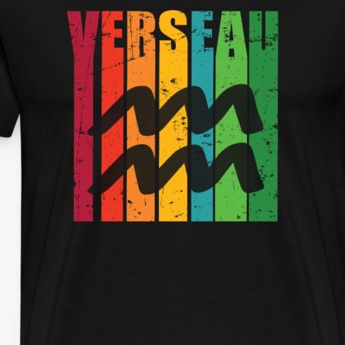 Symbole du zodiaque VERSEAU, janvier, février - T-shirt Premium Homme