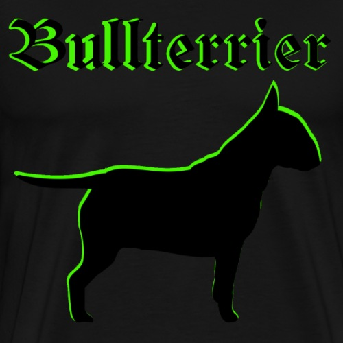 Bullterrier,Kampfhund,Hundekopf,Hundebesitzer, - Männer Premium T-Shirt