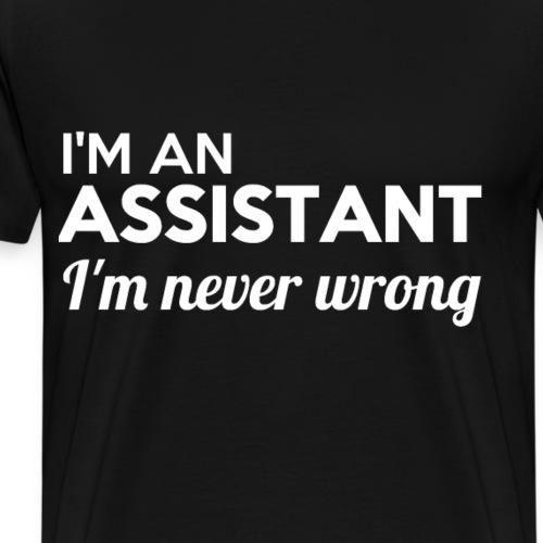 ASSISTANT imprint! cool gift ideas - Men's Premium T-Shirt