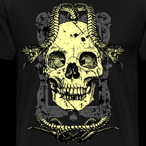 Totenkopf mit Schlangen - Männer Premium T-Shirt