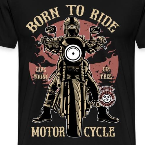 MOTORCYCLE RIDER - Motorrad Caferacer Geschenk - Männer Premium T-Shirt