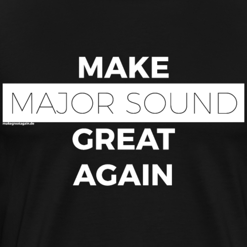 Design Major Sound white - Männer Premium T-Shirt