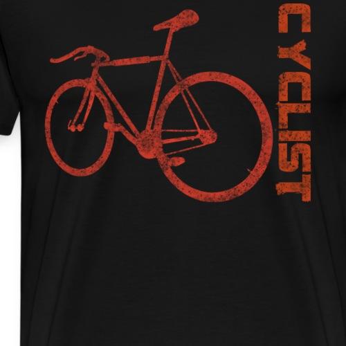 Distressed Cyclist Shirt Fahrrad Rad T-Shirt - Männer Premium T-Shirt