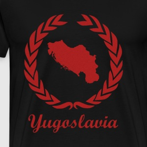 "Koble ExYu ""Jugoslavia"" Red Edition - Premium T-skjorte for menn"