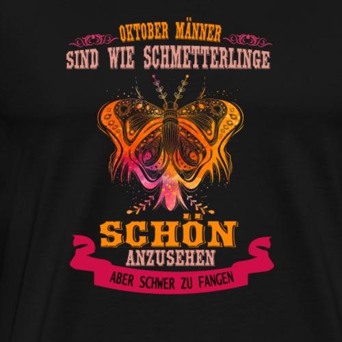 Schmetterling Oktober Mann Geburtstag - Männer Premium T-Shirt