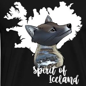 Polarfuchs Island - Männer Premium T-Shirt