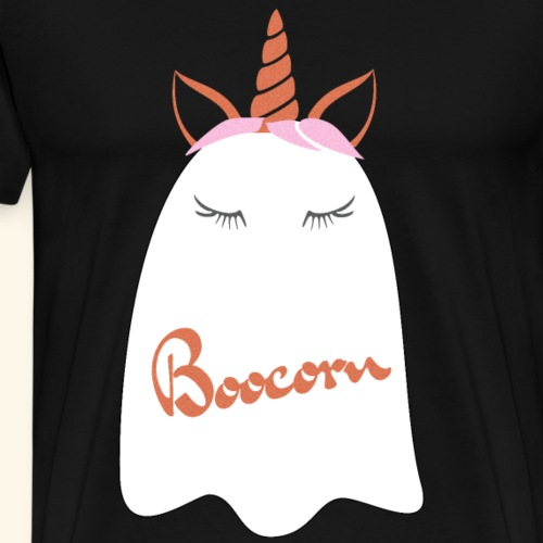 Niedliches Geister Einhorn Halloween Kostüm - Männer Premium T-Shirt