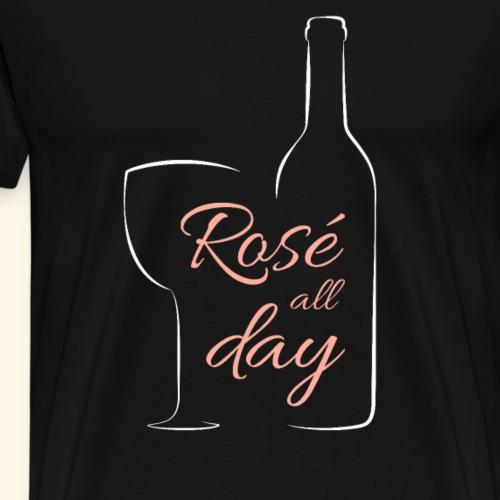 Wein für Frauen Rosé all day elegant Weinliebhaber - Männer Premium T-Shirt