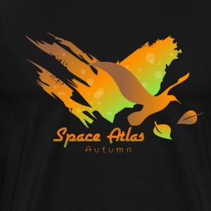 Space Atlas Long Shirt Tee Autumn Leaves - Men's Premium T-Shirt