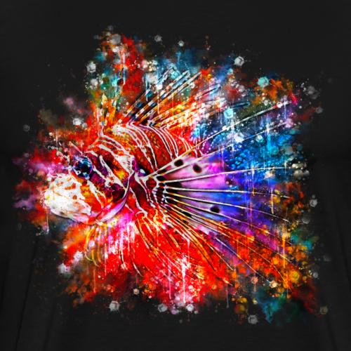 gxp feuerfisch wasserfarbe spritzer - Männer Premium T-Shirt