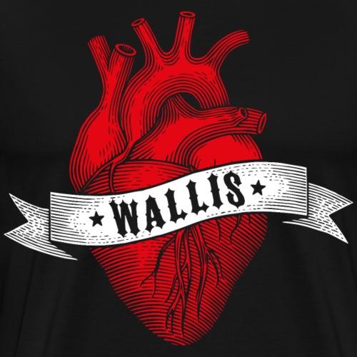 EIN HERZ FÜRS WALLIS - Männer Premium T-Shirt