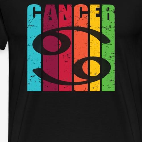 Symbole, signe du zodiaque CANCER, juin, juillet - T-shirt Premium Homme