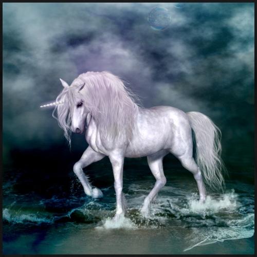 Maravilloso unicornio en la playa - Camiseta premium hombre