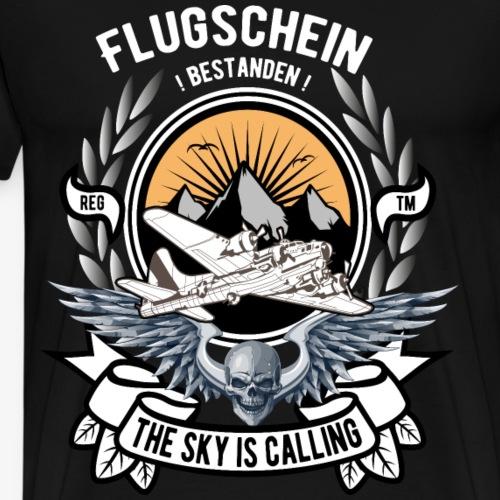 Flugschein bestanden Pilot Flugschule - Männer Premium T-Shirt