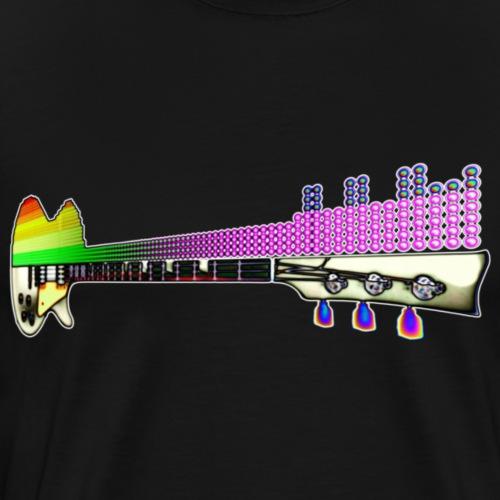 Funky LED guitar - Men's Premium T-Shirt