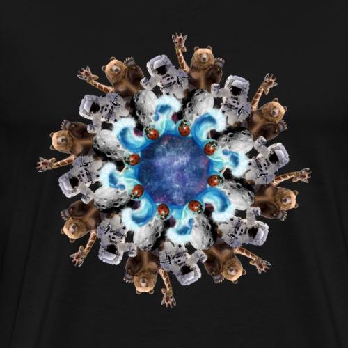 space anarchy mandala - Men's Premium T-Shirt