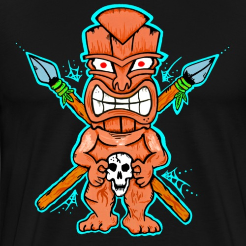 Tiki-Mann - Männer Premium T-Shirt