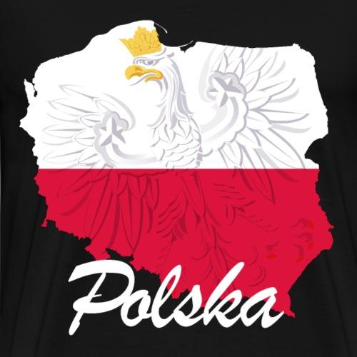 Polska Adler Flagge Land - Männer Premium T-Shirt