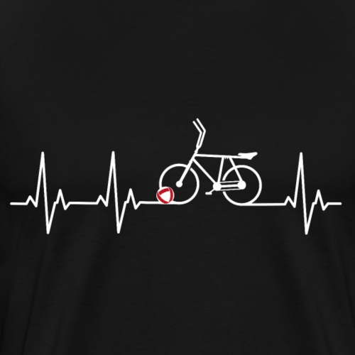 Radball | Heart Monitor White - Männer Premium T-Shirt