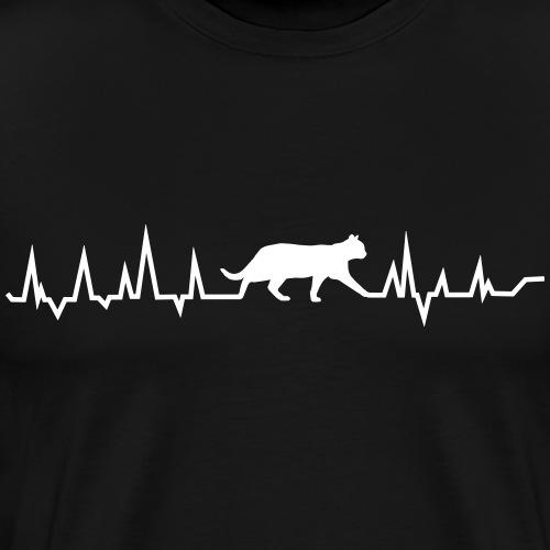Herz für Katzen - Männer Premium T-Shirt