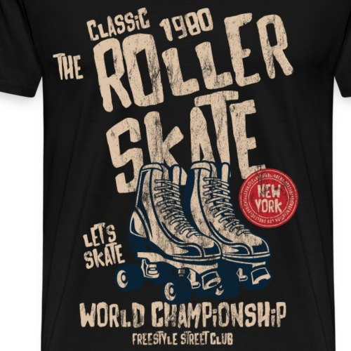 1980 ROLLER SKATE - Sport & Rollschuh Shirt Motiv - Männer Premium T-Shirt