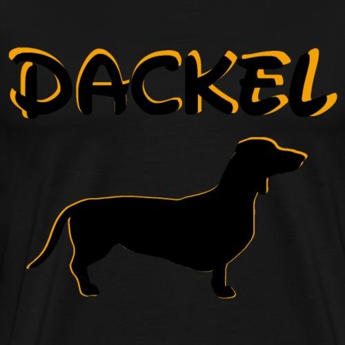 Dackel,Hundekopf,Hundebesitzer,kleiner Hund, - Männer Premium T-Shirt