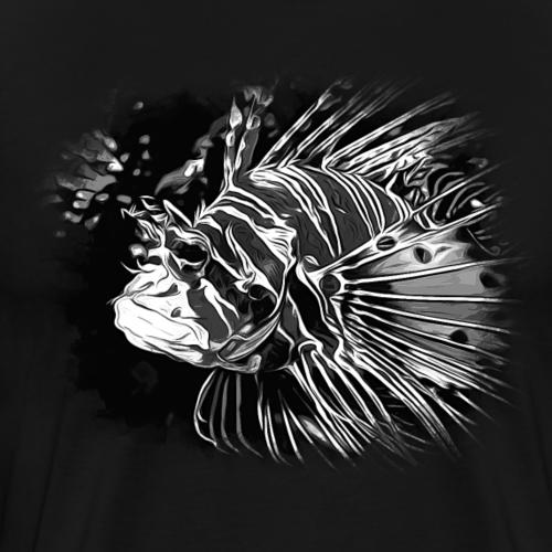 gxp feuerfisch vektor kunst schwarz weiß - Männer Premium T-Shirt